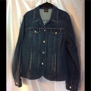 Denim Jacket with Rhinestone S
